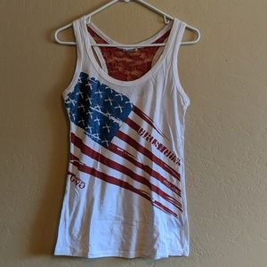 GWG Racerback Flag Tank with Lace